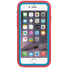 Load image into Gallery viewer, Amzer CRUSTA™ Rugged Case Pale Red on Blue Shell with Tempered Glass for iPhone 6s, iPhone 6
