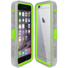 Load image into Gallery viewer, Amzer CRUSTA™ Rugged Case Grey on Green Shell With Tempered Glass for iPhone 6s Plus, iPhone 6 Plus