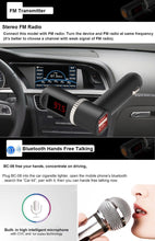 Load image into Gallery viewer, 360 Degrees Rotatable Multifunctional Car Bluetooth FM Transmitter with Remote Controller, Support TF Card / MP3 / U Disk Music Play & Hands-free Answer Phone & Smartphones USB Charging & A2DP Function