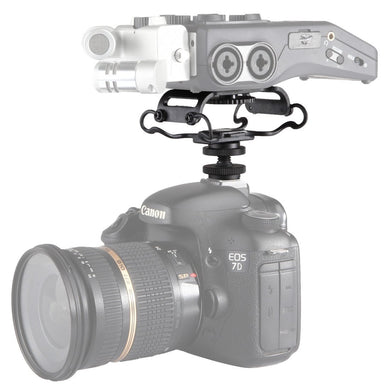 Universal Camera Microphone Shockmount with Hot Shoe Mount(Black)