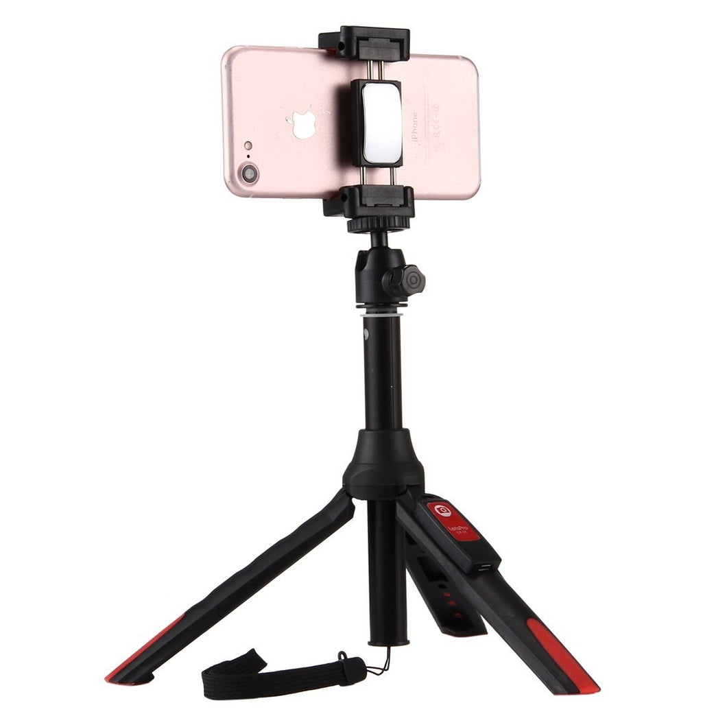 20-68cm Grip Foldable Tripod Holder Multi-functional Selfie Stick Extension Monopod with Phone Clip & Remote Control, For iPhone, Galaxy, Huawei, Xiaomi, HTC, Sony, Google and other Smartphones