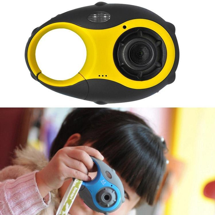 5MP 1.5 inch Color Screen Mini Keychain Type Gift Digital Camera for Children(Yellow)