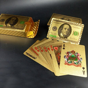 Creative Frosted Mosaic Gold Dollar Back Texture Plastic From Vegas to Macau Playing Cards Texas Poker Novelty Collection Gift