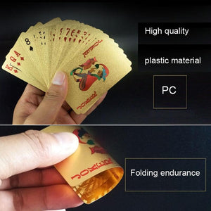 Creative Frosted Mosaic Gold Dollar Back Texture Plastic From Vegas to Macau Playing Cards Texas Poker with Wooden Gift Box
