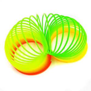 3 PCS Colorful Slinky Toy Rainbow Circles, Random Color Delivery