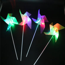 Load image into Gallery viewer, 10 PCS LED Luminous Four-leaf Windmill Children Plastic Toy Windmill, Random Color Delivery