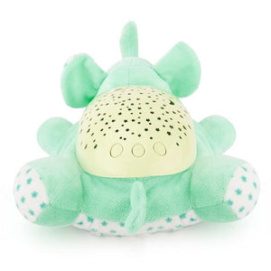 Cute Green Elephant Design Babysbreath Sleep Projector Children Turtle Lamp Toys LED Colorful Night Light