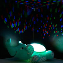 Load image into Gallery viewer, Cute Green Elephant Design Babysbreath Sleep Projector Children Turtle Lamp Toys LED Colorful Night Light