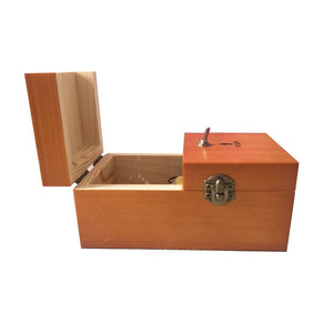 Creative Funny Present Useless Box Novel Wooden Anti-stress Toy, Size: 15*9*7cm(Dark Wood)