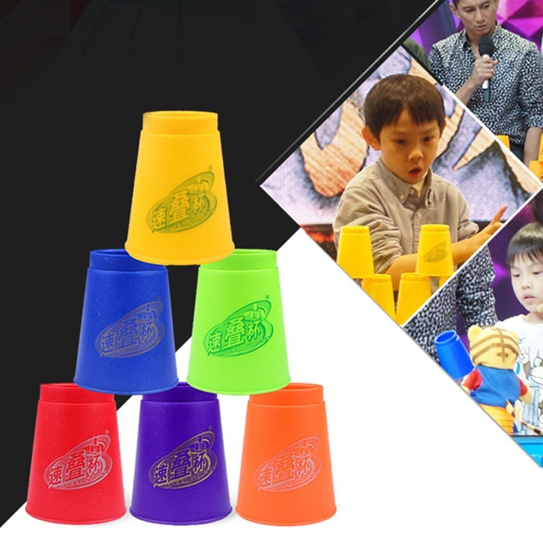 6 PCS Mixed Colors Quick Stack Cups IV Speed Training Sports Stacking Cups