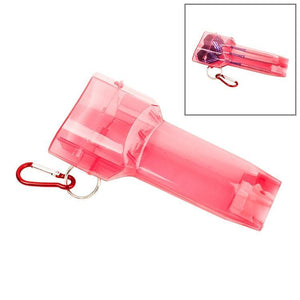 Sports Portable Dart Box Plastic Transparent Container Storage Darts Case with Key Buckle(Red)
