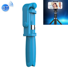 Load image into Gallery viewer, 2 in 1 Foldable Bluetooth Shutter Remote Selfie Stick Tripod for iPhone and Android Phones(Blue)
