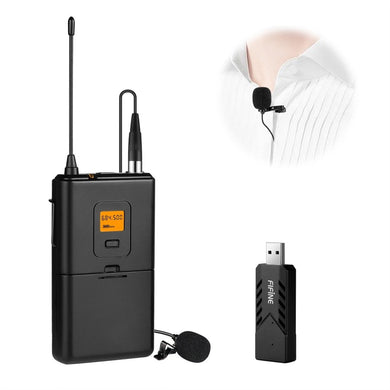 U Segment Wireless Lavalier Microphone for Live Broadcast, Show, KTV, etc, Compatible With Notebook, PC, Speaker, Headphone, iPad, iPhone, Galaxy, Huawei, Xiaomi, LG, HTC and Other Smart Phones