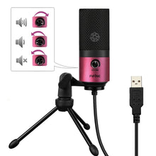 Load image into Gallery viewer, 5V USB Wired Audio Microphone, Compatible with PC and Mac for Live Broadcast, Show, KTV, etc