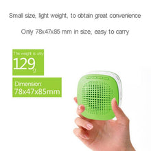 Load image into Gallery viewer, 5W Multi-function Portable Little Bee Voice Amplifier Speaker with Wired Microphone for Teacher / Tourist Guide, Support TF Card & Audio Input Function(Green)