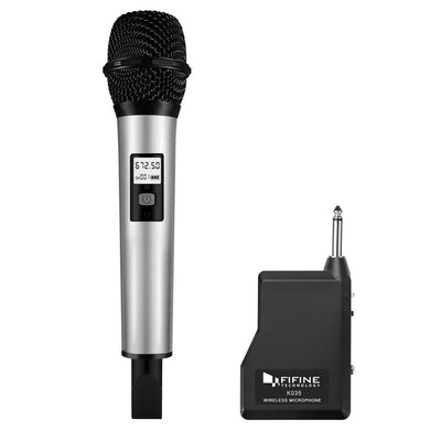 U Segment Selectable 20-channel Wireless Handheld Microphone, For Notebook, Tablet, PC, Speaker, Headphone and Smart Phones