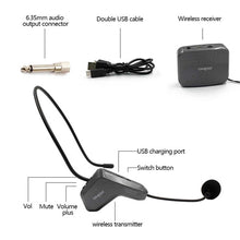 Load image into Gallery viewer, 2.4GHz Wireless Audio Transmission Electronic Pickup Microphone, Transmission Distance: 20-30m