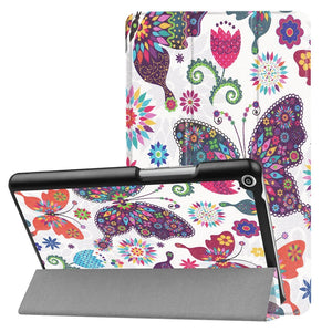 AMZER Butterfly Horizontal Flip Leather Case with Three-fold Holder For Huawei MediaPad T3 8.0