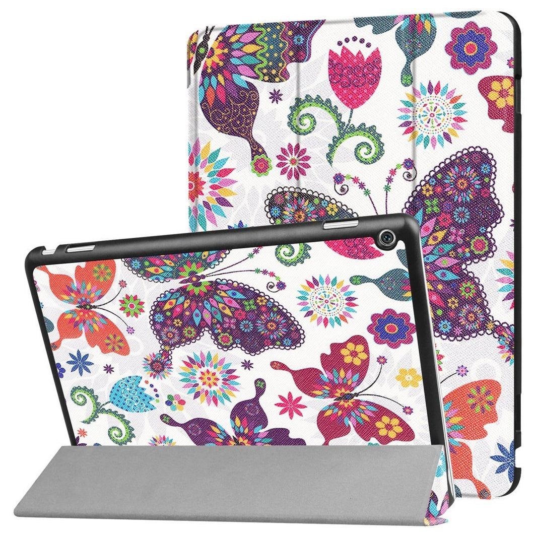 AMZER Butterfly Flip Leather Case with 3-fold Holder & Sleep/ Wake-up For Huawei MediaPad M3 Lite 10