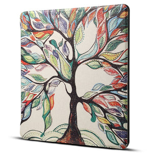 AMZER Tree Print Horizontal Flip PU Leather Protective Case For Amazon Kindle Oasis 7 inch