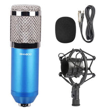 Load image into Gallery viewer, 3.5mm Studio Recording Wired Condenser Sound Microphone with Shock Mount, Compatible with PC / Mac for Live Broadcast Show, KTV, etc.(Blue)