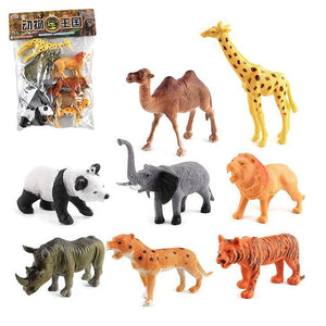 8 in 1 Cute Animal Kingdom Decoration Toys Set