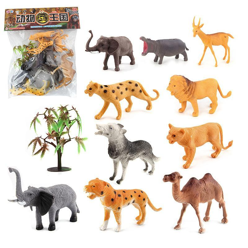 10 in 1 Cute Animal Kingdom Decoration Toys Set