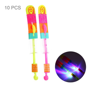 10 PCS Amazing LED Light Slingshot Flying Arrows, Random Color Delivery, Size: Large