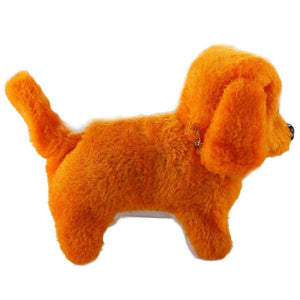 2 PCS Plush Puppy Electric Toys Can Will Move Forward / Will Backwards / Sounding and Luminous Eyes