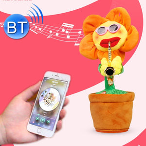 Sunflower Sax Style Bluetooth Plush Children Adult Toy ,Support USB Charging & Battery(Orange)