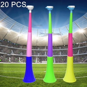 20 PCS 60cm Three Section Stretch Horn Sports Competition Props Children Toy, Random Color Delivery