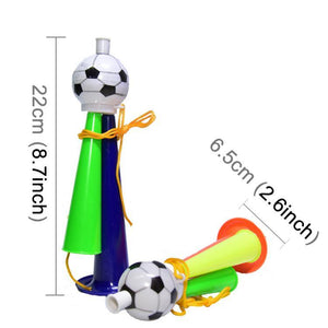20 PCS European Cup World Cup Football Game Props Horn 3 Tones Football Horn Children Toy with Lanyard, Length: 22cm, Random Color Delivery