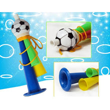 Load image into Gallery viewer, 20 PCS European Cup World Cup Football Game Props Horn 3 Tones Football Horn Children Toy with Lanyard, Length: 22cm, Random Color Delivery