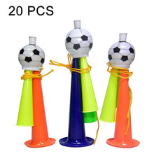 Load image into Gallery viewer, 20 PCS European Cup World Cup Football Game Props Horn 3 Tones Football Horn Children Toy with Lanyard, Length: 19cm, Random Color Delivery