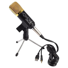 Load image into Gallery viewer, 2.5m Home KTV Handheld Mic Universal Sound Recording Microphone with Tripod Stand, Compatible with PC and Mac for Live Broadcast, Show, KTV, etc