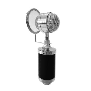 3000 Home KTV Mic Condenser Sound Recording Microphone with Shock Mount & Pop Filter for PC & Laptop, 3.5mm Earphone Port, Cable Length: 2.5m(Black)