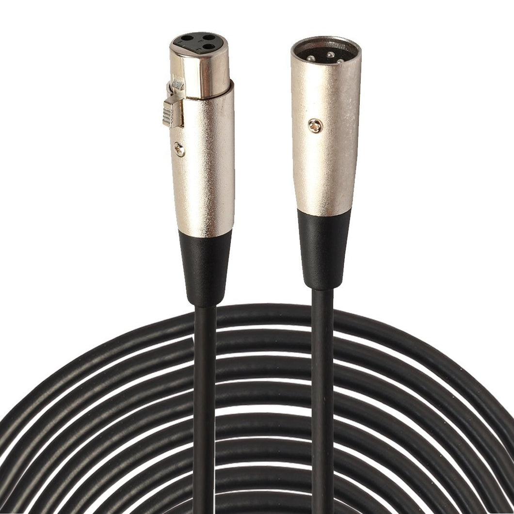 3-Pin XLR Male to XLR Female MIC Shielded Cable Microphone Audio Cord - 20m