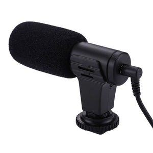 3.5mm Audio Stereo Recording Professional Interview Microphone for DSLR & DV Camcorder, Smartphones