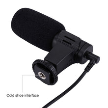 Load image into Gallery viewer, 3.5mm Audio Stereo Recording Professional Interview Microphone for DSLR & DV Camcorder, Smartphones