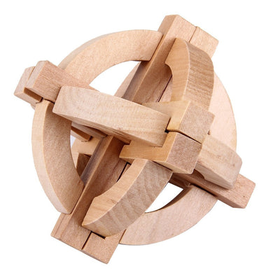 Wooden Adult Educational Toys Recreational Toys Kongming Ball