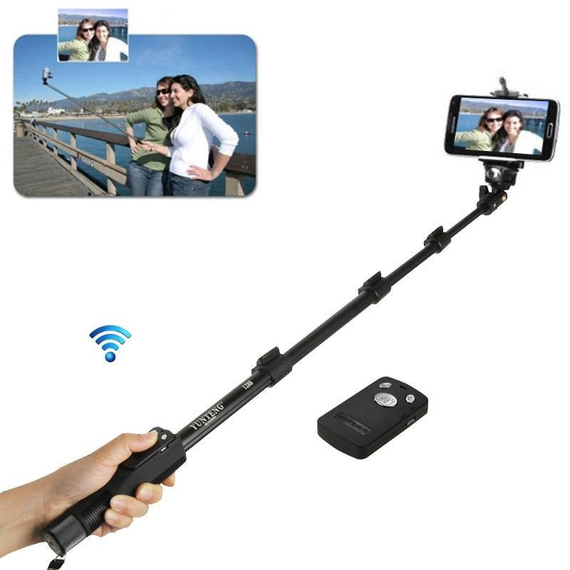 3 in 1 Kits Monopod + Phone Holder Clip + Bluetooth Remote Shutter, Length: 1.25m, For iPhone, Galaxy, Huawei, Xiaomi, HTC, Sony, Google and other Smartphones of Android or iOS(Black)