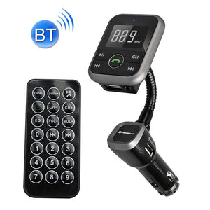 X8 Plus Wireless Bluetooth Car MP3 Music Player FM Transmitter Car Charger Adapter with Dual USB Ports Wireless Headset for Mobile Phone