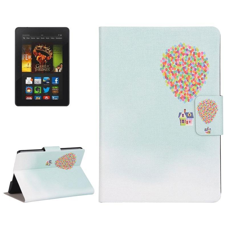 AMZER Colorful Balloon Drawing Flip Leather Case Holder & Card Slots For Amazon Kindle Paperwhite 2