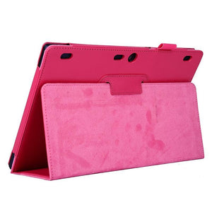 AMZER Texture Horizontal Flip Leather Case with Two-fold Holder For Lenovo Tab2 A10-70 - Magenta