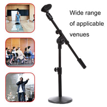 Load image into Gallery viewer, Adjustable Table Microphone Holder, Clip Diameter: 25-28mm, Height: 25-40cm