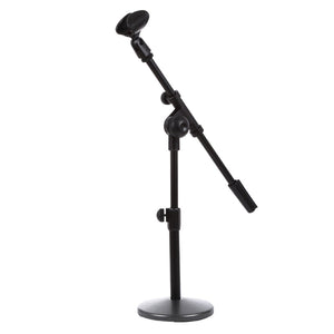 Adjustable Table Microphone Holder, Clip Diameter: 25-28mm, Height: 25-40cm
