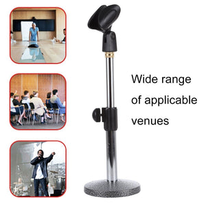 Adjustable Microphone Desk Stand, Height: 12.5-25.5cm