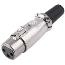 Load image into Gallery viewer, 3 Pin XLR Female Plug Microphone Connector Adapter