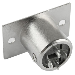 XLR 3 Pin Male Metal Chassis Mount Connector with Locking