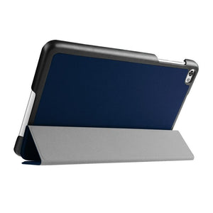 AMZER Texture Horizontal Flip Leather Case with 3-fold Holder For Huawei MediaPad M2 8.0 - Dark Blue